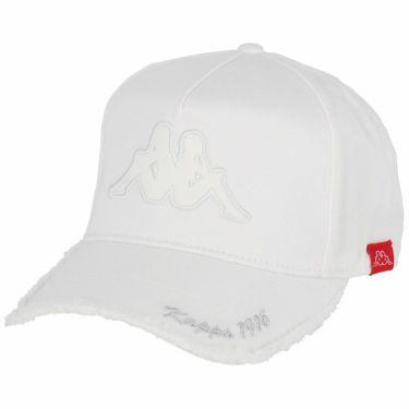 カッパ Kappa メンズ ロゴ刺繍 ダメージ キャップ KG958HW45 WT ホワイト ホワイト(WT)