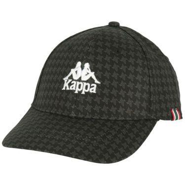 カッパ Kappa メンズ ロゴ刺繍 総柄プリント キャップ KGA58HW01 BK ブラック 2020年モデル ブラック(BK)