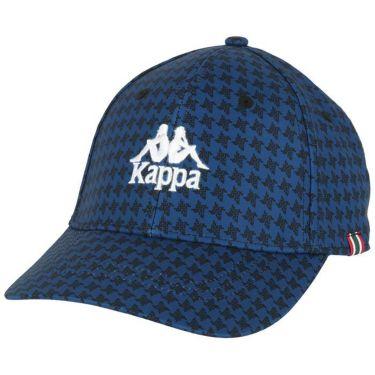 カッパ Kappa メンズ ロゴ刺繍 総柄プリント キャップ KGA58HW01 NV ネイビー 2020年モデル ネイビー(NV)