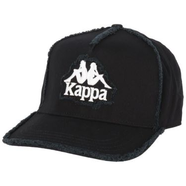 カッパ Kappa メンズ ロゴ刺繍 ツイル ダメージ キャップ KGA58HW03 BK ブラック 2020年モデル ブラック(BK)