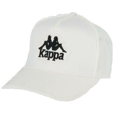 カッパ Kappa メンズ ロゴ刺繍 ツイル ダメージ キャップ KGA58HW03 WT ホワイト 2020年モデル ホワイト(WT)
