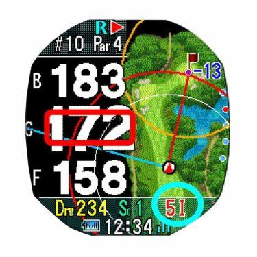 ショットナビ Shot Navi Crest クレスト 腕時計型GPSゴルフナビ ブラック 詳細6