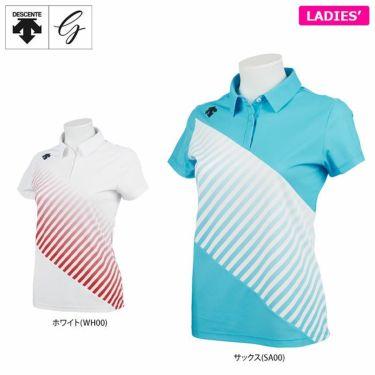 デサントゴルフ JAPAN NATIONAL TEAM プレイングモデル ライジングプリント レディース 半袖 ポロシャツ DGWPJA00OP 2021年モデル 詳細1