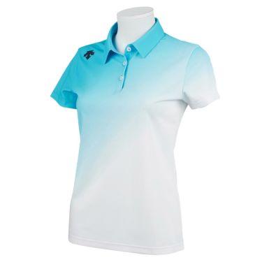 デサントゴルフ JAPAN NATIONAL TEAM プレイングモデル ライジング グラデーション レディース 半袖 ポロシャツ DGWPJA01OP 2021年モデル サックス(SA00)