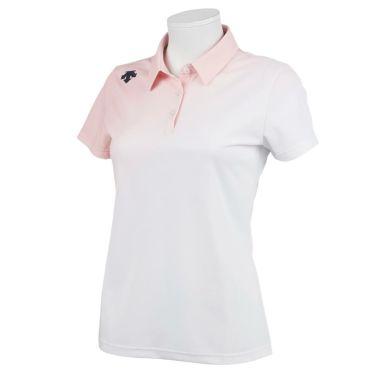 デサントゴルフ JAPAN NATIONAL TEAM プレイングモデル ライジング グラデーション レディース 半袖 ポロシャツ DGWPJA01OP 2021年モデル ピンク(PK00)