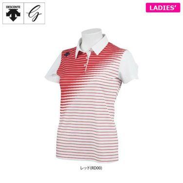 デサントゴルフ JAPAN NATIONAL TEAM プレイングモデル ライジングボーダー グラデーション レディース 半袖 ポロシャツ DGWPJA02OP 2021年モデル 詳細1