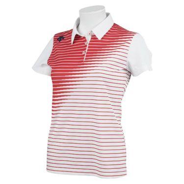 デサントゴルフ JAPAN NATIONAL TEAM プレイングモデル ライジングボーダー グラデーション レディース 半袖 ポロシャツ DGWPJA02OP 2021年モデル レッド(RD00)