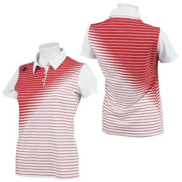 デサントゴルフ JAPAN NATIONAL TEAM プレイングモデル ライジングボーダー グラデーション レディース 半袖 ポロシャツ DGWPJA02OP 2021年モデル 詳細3