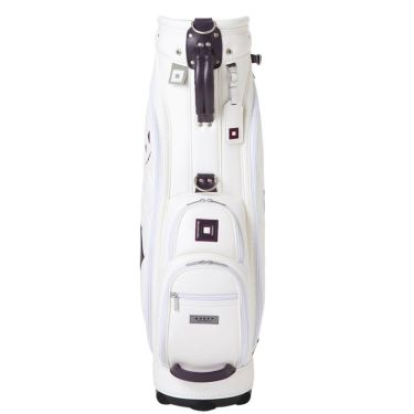 ONOFF オノフ レディース キャディバッグ OB7921 01 ホワイト×パープル 詳細2