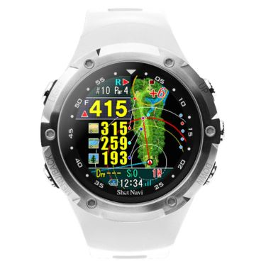 ショットナビ Shot Navi W1 Evolve エボルブ 腕時計型 GPSゴルフナビ ホワイト 詳細1