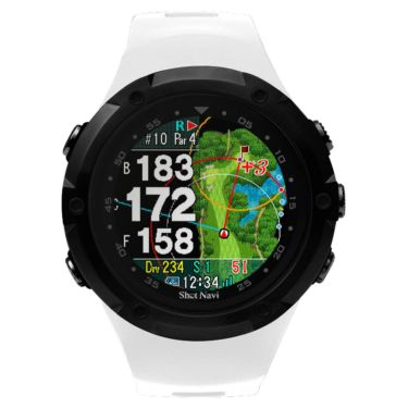 ショットナビ Shot Navi W1 Evolve エボルブ 腕時計型 GPSゴルフナビ ホワイト×ブラック 詳細1