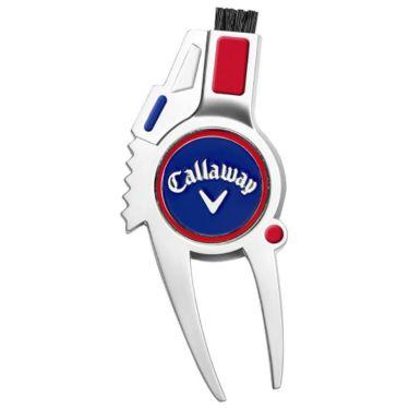 キャロウェイ 4-IN-1 DIVOT TOOL R/W/B 4in1 ディボットツール レッド/ホワイト/ブルー 0700215001304A 詳細1