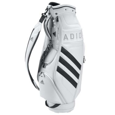 アディダス adidas W PU CB スリーストライプ レディース キャディバッグ EMH91 GT5924 ホワイト/ブラック(GT5924)