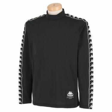 カッパ Kappa メンズ ロゴテープ 裏起毛 長袖 ハイネックシャツ KGA52LS31 2020年モデル ブラック(BK)
