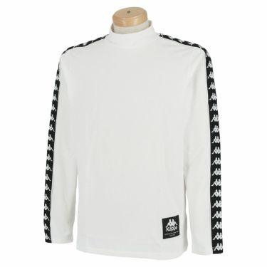 カッパ Kappa メンズ ロゴテープ 裏起毛 長袖 ハイネックシャツ KGA52LS31 2020年モデル ホワイト(WT)