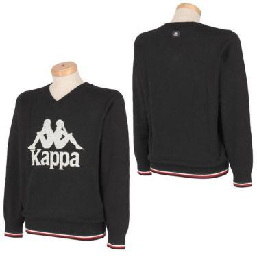 カッパ Kappa メンズ ビッグロゴ 長袖 Vネック セーター KGA52SW04 2020年モデル 詳細3