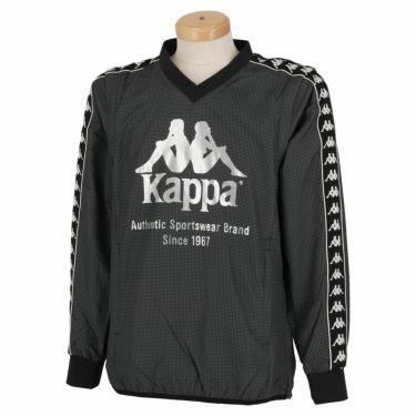 カッパ Kappa メンズ 千鳥格子柄 撥水 2WAY 長袖 Vネック スニードジャック KGA52WT32 2020年モデル ブラック(BK)