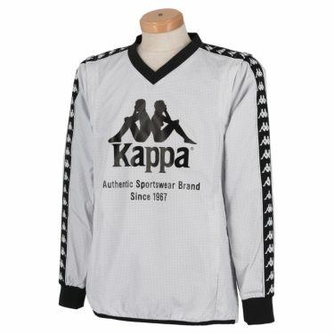 カッパ Kappa メンズ 千鳥格子柄 撥水 2WAY 長袖 Vネック スニードジャック KGA52WT32 2020年モデル ホワイト(WT)