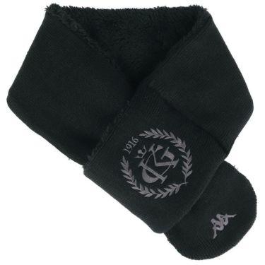 カッパ Kappa メンズ ロゴ刺繍 ボア マフラー KC958NW01 BK ブラック ブラック(BK)