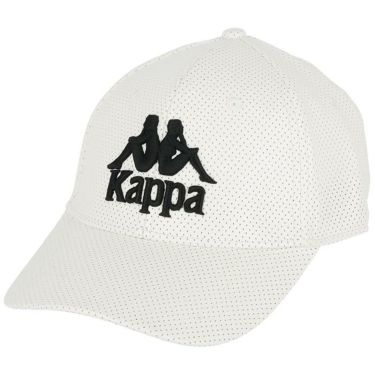 カッパ Kappa メンズ ロゴ刺繍 パンチング合皮 キャップ KGA58HW06 OW オフホワイト 2020年モデル オフホワイト(OW)