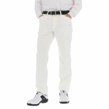 カッパ Kappa メンズ モールスキン ストレッチ ロングパンツ KGA52PA03 2020年モデル [裾上げ対応1●] ホワイト(WT)