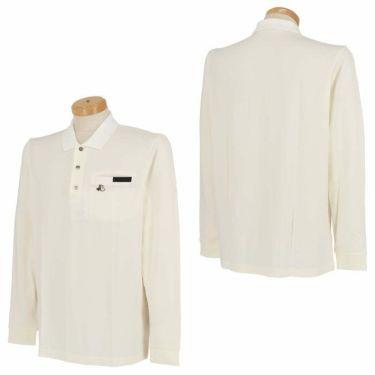 ブラック&ホワイト Black&White メンズ ロゴ刺繍 ストレッチ ポケット付き 長袖 ポロシャツ BGF9210XJ 2020年モデル 詳細3