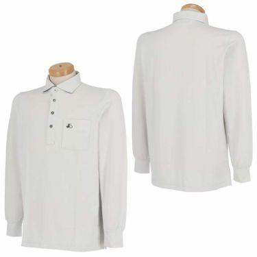 ブラック&ホワイト Black&White メンズ ロゴ刺繍 ポケット付き 長袖 ホリゾンタルカラー ポロシャツ BGF9310XI 2020年モデル 詳細3