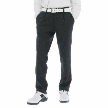 ブラック&ホワイト Black&White メンズ ウール混 ワンタック ストレッチ ロングパンツ BGF5100EE 2020年モデル [裾上げ対応1] チャコールグレー(25)