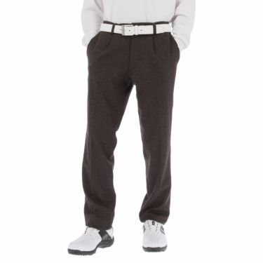 ブラック&ホワイト Black&White メンズ ウール混 ワンタック ストレッチ ロングパンツ BGF5100EE 2020年モデル [裾上げ対応1] ブラウン(50)