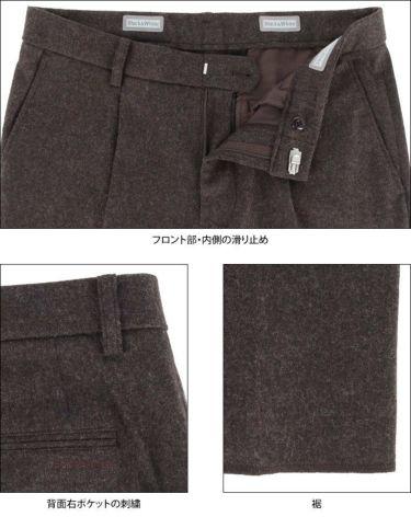 ブラック&ホワイト Black&White メンズ ウール混 ワンタック ストレッチ ロングパンツ BGF5100EE 2020年モデル [裾上げ対応1] 詳細5
