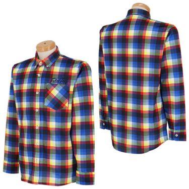 フィラ FILA メンズ 総柄プリント チェック 長袖 ボタンダウン ポロシャツ 780-503 2020年モデル 詳細3