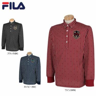 フィラ FILA メンズ ストライプ柄 エンブレム刺繍 長袖 ボタンダウン ポロシャツ 780-505 2020年モデル 詳細1