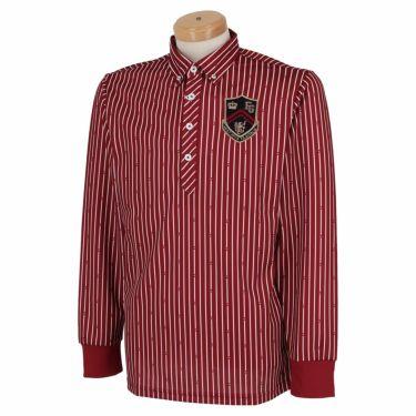フィラ FILA メンズ ストライプ柄 エンブレム刺繍 長袖 ボタンダウン ポロシャツ 780-505 2020年モデル ワイン(WIN)