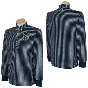 フィラ FILA メンズ ストライプ柄 エンブレム刺繍 長袖 ボタンダウン ポロシャツ 780-505 2020年モデル 詳細3