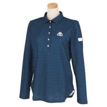 カッパ Kappa レディース 総柄 長袖 ポロシャツ KGA62LS61 2020年モデル ブルー(BL)