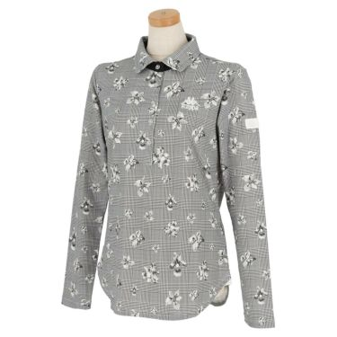 カッパ Kappa レディース 総柄 長袖 ポロシャツ KGA62LS61 2020年モデル ホワイト1(WT1)