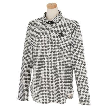 カッパ Kappa レディース 総柄 長袖 ポロシャツ KGA62LS61 2020年モデル ホワイト2(WT2)