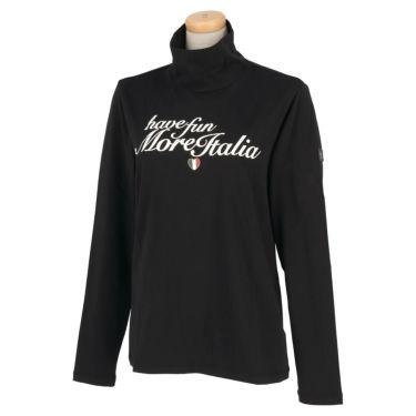 カッパ Kappa レディース レタリングプリント 長袖 ハイネックシャツ KGA62LS64 2020年モデル ブラック(BK)