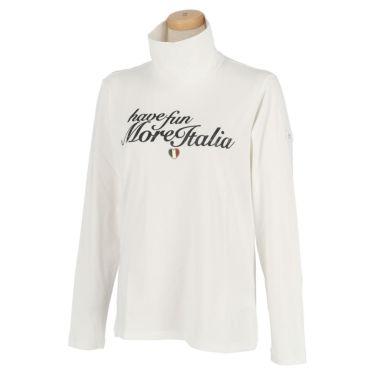 カッパ Kappa レディース レタリングプリント 長袖 ハイネックシャツ KGA62LS64 2020年モデル ホワイト(WT)