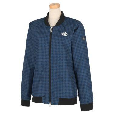 カッパ Kappa レディース 総柄 撥水 長袖 フルジップ ジャケット KGA62WT62 2020年モデル ブルー(BL)