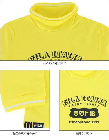 フィラ FILA レディース プリントデザイン 裏起毛 長袖 ハイネックシャツ 790-502 2020年モデル 詳細4