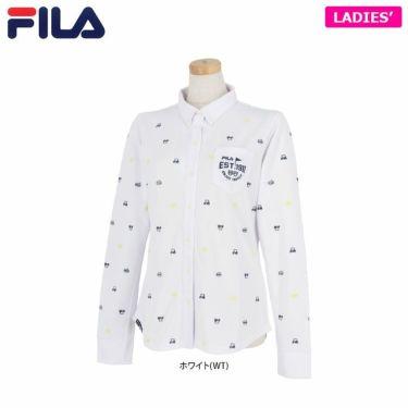 フィラ レディース 長袖 ポロシャツ 790-504 (2020) ホワイト(WT)