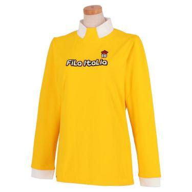 フィラ FILA レディース ロゴデザイン 生地切替 ストレッチ 長袖 ハイネックシャツ 790-506 2020年モデル イエロー(YL)