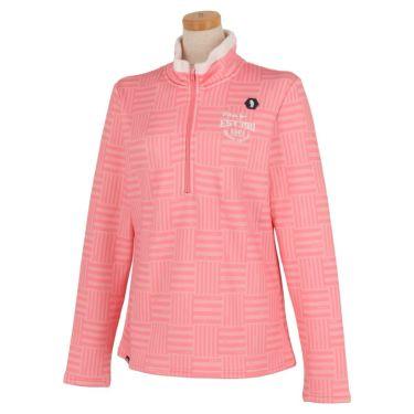 フィラ FILA レディース 総柄プリント 裏起毛 長袖 ハーフジップシャツ 790-508 2020年モデル ピンク(PK)