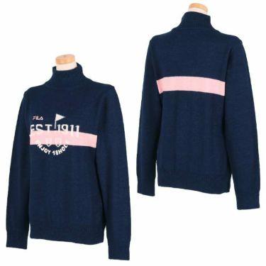 フィラ FILA レディース ロゴ刺繍 ジャガード 長袖 ハイネック セーター 790-701 2020年モデル 詳細2