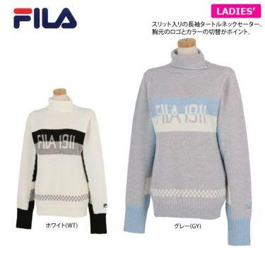 フィラ FILA レディース ロゴジャガード 配色切替 長袖 タートルネック セーター 790-705 2020年モデル 詳細2