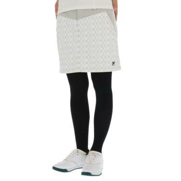 フィラ FILA レディース ロゴプリント 防風 裏起毛 チェック柄 ストレッチ スカート 790-306 2020年モデル グレー(GY)