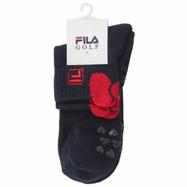 フィラ FILA レディース ロゴ刺繍 ショートソックス 790-934 NV ネイビー 2020年モデル ネイビー(NV)