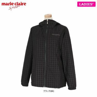 マリクレール marie claire レディース 千鳥格子柄 フリース裏地 長袖 フード付き フルジップ ジャケット 730-261 2020年モデル ブラック(BK)