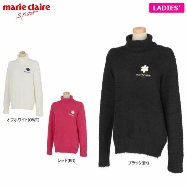 マリクレール marie claire レディース ロゴ刺繍 長袖 タートルネック セーター 730-700 2020年モデル 詳細1